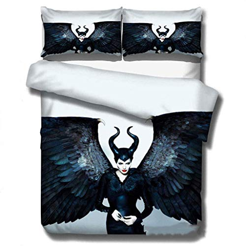 299 Duvet Cover Sets 3D Maleficent Printing Child Adult Bedding Set 100% Polyester Gift Duvet Cover 3 Pieces With 2 Pillowcases F-AU Double180x210cm