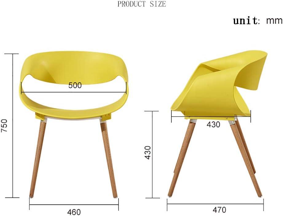 HSRG Maison Salle à Manger Chaise Restaurant Creative Lounge Chaise Bureau d'étude Tabouret de Plastique pour Adultes Chaise Dossier,Yellow Red