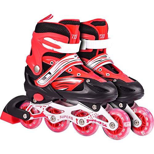 Skate Kinder Vollen Satz Männer Und Frauen Inline-Rollschuhe Rollschuhe Rollschuhe Single Flash Kinder Skates Einstellbarer Größe