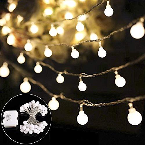 Preisvergleich Produktbild Lichterkette batterie B-right 40 LED Globe Lichterkette glühbirne,  batteriebetrieben,  warmweiß Innen und Außen Lichterkette Weihnachtsbeleuchtung für kinderzimmer Weihnachten Hochzeit Weihnachtsbaum