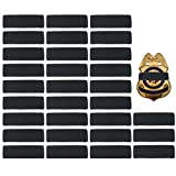 30 Pack Black Police Mourning Band Stripe Police Officer Badge Shield Funeral Honor Guard Straps, 1/2'