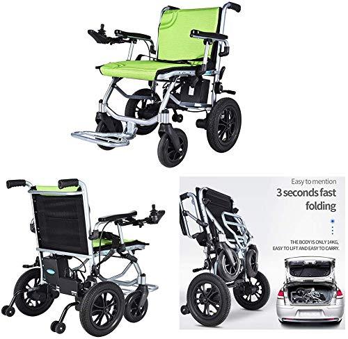 GJHW Elektrorollstuhl/Behinderte FüR äLtere Menschen/Intelligenter Leichtgewichtrollstuhl/Klapp- / Stuhlantrieb Mit Elektroantrieb Oder Manueller Rollstuhl- / Lithiumbatterie