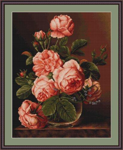 Luca-S vaas van rozen geteld kruis steek kit