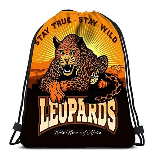 Backpack Sports Gym Bag Jaguar Leopard Logo Emblem Symbol for Women Men Children Large Size