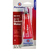 Permatex 81160-12PK High-Temp Red RTV Silicone Gasket, 3 oz. (Pack of 12)