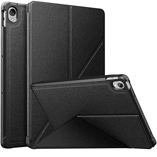 MoKo Funda Compatible con Lenovo Tab P11 11-Inch 2020 (TB-J606F/TB-J606X), Cubierta Protectora con Soporte Origami Múltiple Ángulos Visión Smart Case Cover con Carcasa Trasera TPU, Negro