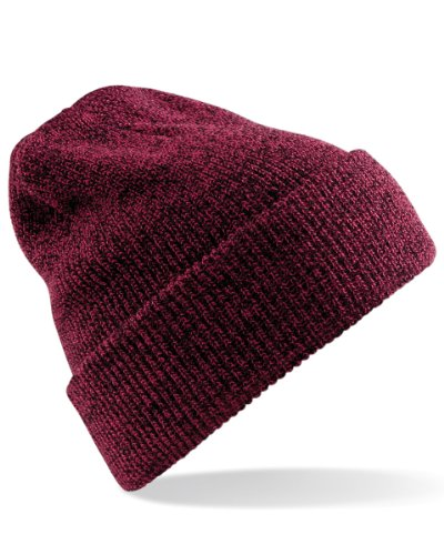 Beechfield Heritage Style Beanie Hat Taille unique,Rot - Antique Burgundy