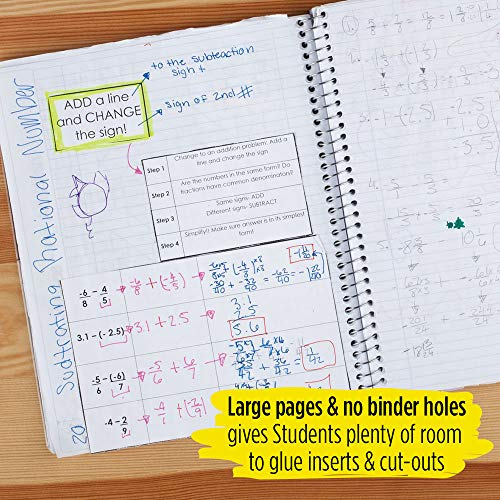 """Five Star Interactive Notetaking, 1 Subject, College Ruled Spiral Notebooks, 100 Sheets, 11"""" x 8-1/2"""", Customizable, 3 Pack (38589) Photo #4"""