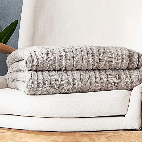 YIJIAHUI-Home Manta de sofá Thicken Bedding Cable Knit Throw Manta for Sofá...