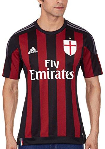 adidas Herren Spieler-heimtrikot AC Mailand Replica, Black/Vicred/Granit, L
