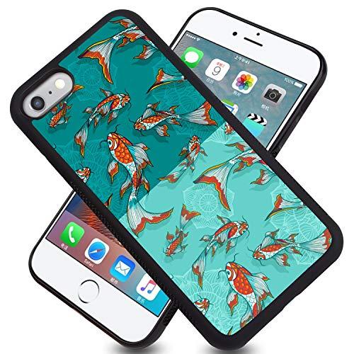 FAUNOW Carcasa para iPhone 6/6S Plus, diseño de neumáticos de pescado y absorción de golpes