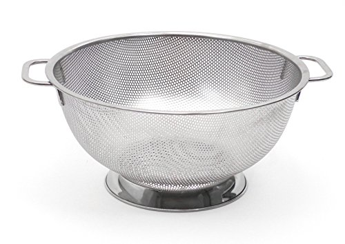 RSVP International International Endurance Stainless Steel Precision Pierced Colander, 5-Quart (Punch-5), 18-8