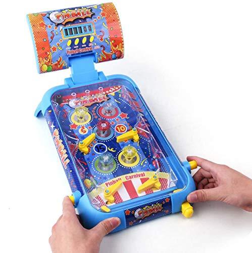 HRXQ Máquina de Pinball Rompecabezas Infantil Juego de Pinball Juguete Mesa de Pinball Rompecabezas Juego de Mesa Juguete de Doble Batalla-Regalo de cumpleaños de Navidad