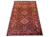 Manhattan Oriental Rugs Vintage 4X7 Karajeh Heriz Hand-Knotted Wool Area Rug Carpet (4 x 6.7)