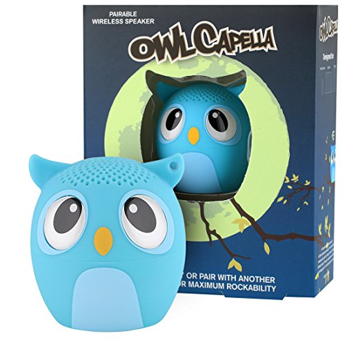 My Audio Pet Owl Mini Bluetooth Animal Wireless Speaker for Kids of All Ages - True Wireless Stereo Technology  Pair with Another TWS Pet for Powerful Rich Room-Filling Sound - (OWLcapella Blue)