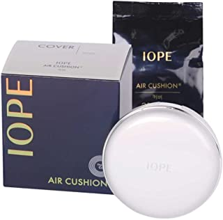 IOPE Air Cushion COVER (SPF 50+/PA+++) No.21 Vanilla, 30g(15g +Refill 15g)