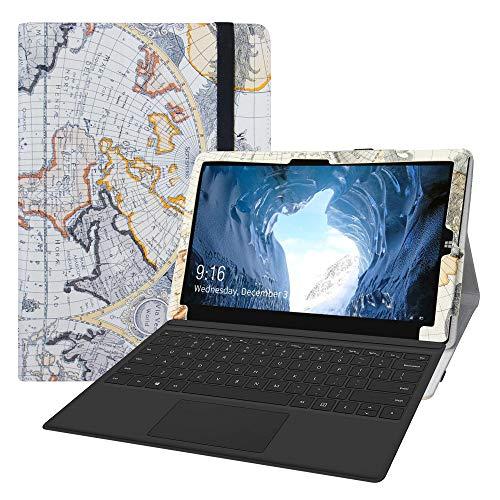 LFDZ Cover CHUWI UBook,Slim Ultra Pelle Sottile e Leggera Cover Case Custodia per 11.6  CHUWI UBook Tablet(Non Compatibile CHUWI UBook PRO),Map White