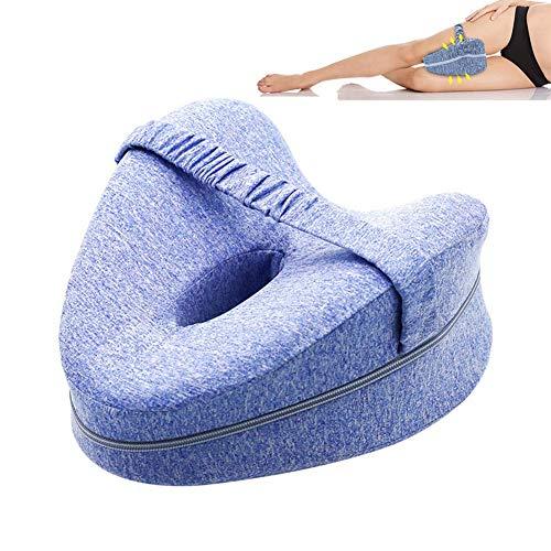 FOHYLOY Orthopädische Beinpositionierungskissen Beinkissen für Rücken-, Hüft-, Bein- und Kniestütze Keil- und Ischiasnervendruckentlastung