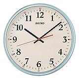 Seiko Reloj de pared con carcasa gris con esfera color crema y barrido silencioso de segunda mano QXA751N