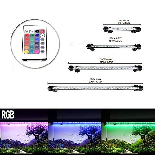 SODIAL Lampe tube etanche aquarium poisson 69 LED eclairage Blu 4W 100-240V R