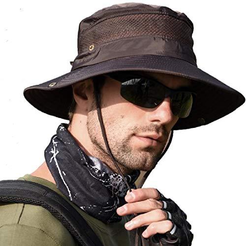 anaoo Chapeau Homme, Chapeau de Soleil, Chapeau Eté Pliable, Casquettes Visières Anti-UV, Séchage Rapide et Protection UV pour Camping, Pêche, Randonnée