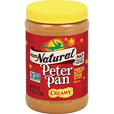 Peter Pan 100% Natural Creamy Peanut Butter Spread, 28 Ounce