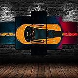 45Tdfc 5 Unidades Pictures McLaren Amarillo 570s Super Racing Car Painting Home Decor Modern Wall Art Canvas HD Prints Frame Modular Poster