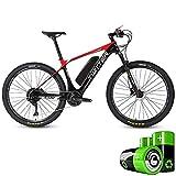 LZMXMYS Bicicleta eléctrica, Fibra de Carbono eléctrico Bicicleta eléctrica Ayudar MTB (5 Archivos / 11 Velocidad) 27,5 Pulgadas Pedal de la Bicicleta coaxial del Sistema Poder Central Ultra Ligero