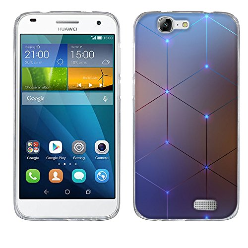 FUBAODA Ascend G7 Hülle Hülle, [Elektromagnetischer Diamant] für Huawei Ascend G7 silikon Handyhülle Backhülle Schutzhüllen TPU für Ascend G7
