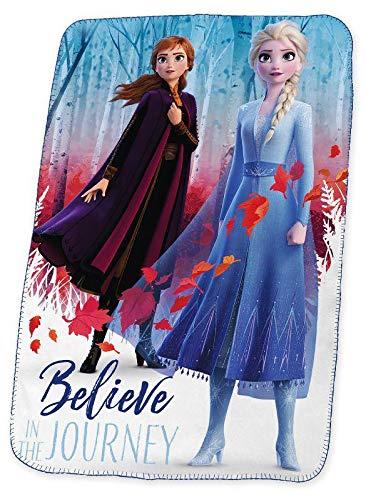 Disney Frozen Silk Touch 2 Referencia KD Mantas para Cama Colchas y cubrecamas Textiles del hogar Unisex Adulto, Multicolor (Multicolor), única