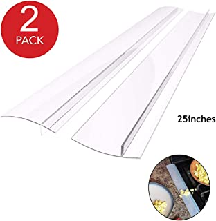 25inch Silicone Gap Cover Seals Strip Stopper Filler Between Kitchen Stove Counter 2pack