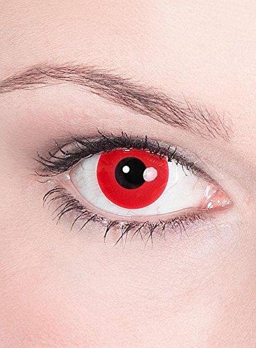 Close Up Motiv-Kontaktlinsen Satan (Teufel) ohne Sehstärke