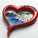 TDCTshop Lanzarote, España Moda En Forma de corazón, Resina 3D, imanes para refrigerador, Hechos a Mano, Recuerdos de Viaje, artículos de Cocina para el hogar, decoración Artesanal.