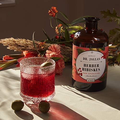Dr. Jaglas Herber Hibiskus – San Aperitivo / alkoholfreier Gin / alkoholfreier Aperitif / ideal für alkoholfreie Cocktails & als alkoholfreie Spirituose / Herb-süßer Long Drink ohne Alkohol - 2