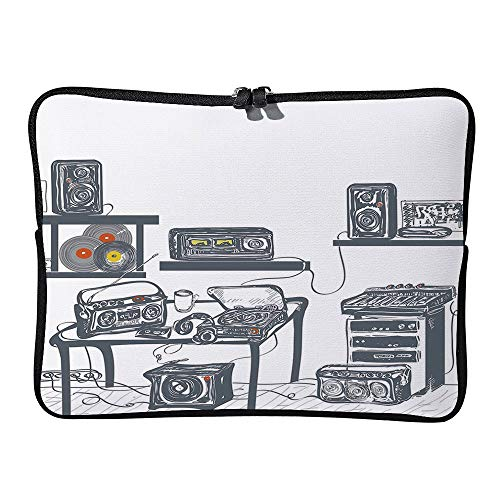 C COABALLA Modern,Recording Studio with Devices Laptop Sleeve Case Neoprene Carrying Bag for Any Tablet/Notebook AM022656 10 inch/10.1 inch