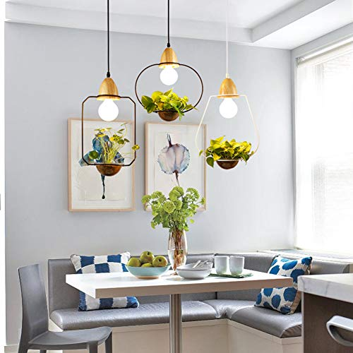 Dongbin Grüne Schmiedeeisen Pendelleuchte, E27 kreative Vogelbauer gemalte Decke Lampen, Art-Deco-3PCS für den Korridor Balkon Restaurant Isle Fenster bar Kronleuchter Blumenläden