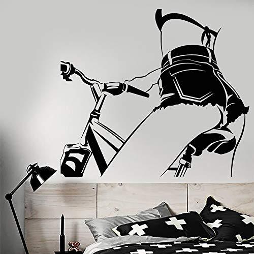 Tianpengyuanshuai muursticker van vinyl, voor meisjes op de fiets