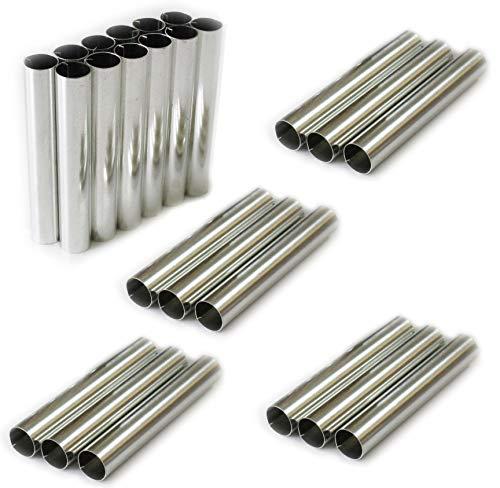 Cannoli Scoiattolo Stampo Set di 25 (8 cm x 1,3 cm) Tradizionale Molds Cannoli Form Tubes Forma per Cannoli