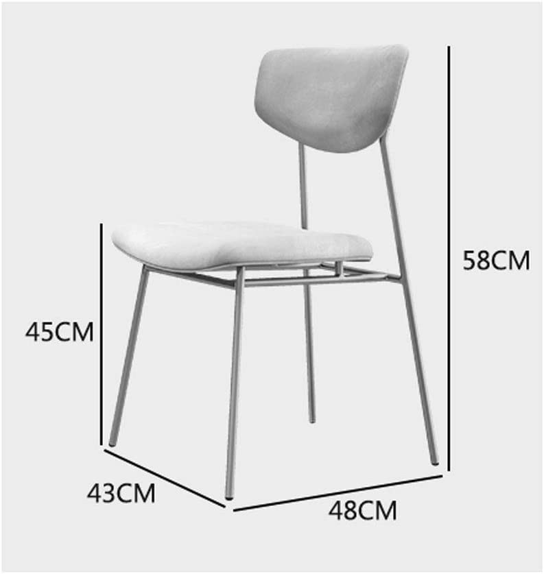 SLL- Chaise Dossier dinant la Chaise Moderne doré Chaise Tabouret de Maquillage Restaurant café Chaise Moderne (Color : B) D