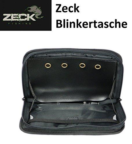 Zeck Spoon Wallet Angeltasche für Wallerblinker - Blinkertasche, Tasche für Welsblinker, Angeltasche zum Wallerangeln, Welstasche für Angelzubehör, Tasche für Wallertackle, 21,5 x 15 x 6,5cm