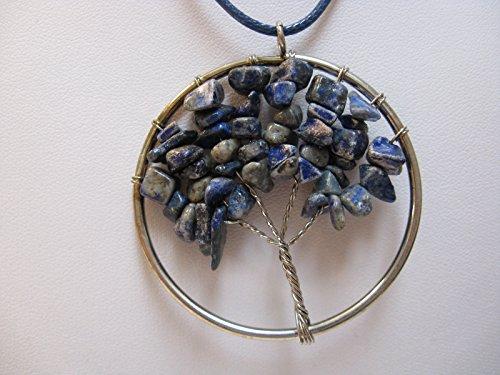 Natural mente – Arbre de Vie, arbre de vie, pendentif, collier, pendentif en pierre Amulette, pierres précieuses, Rock,, Quartz, Lapis, Lapis Lazuli, n ° 6