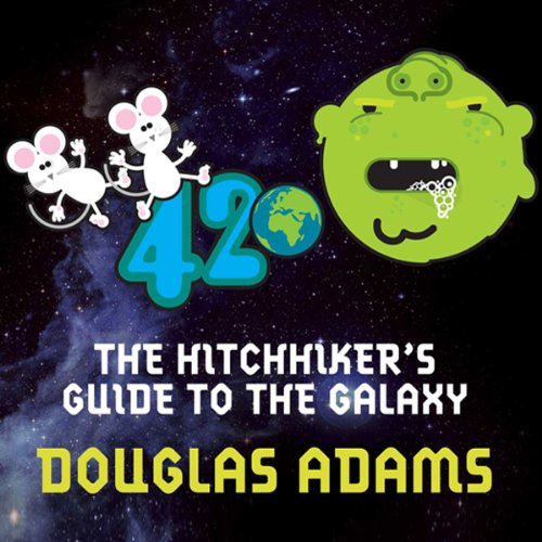 Hitchhiker's Guide to the Galaxy audiobook cover art