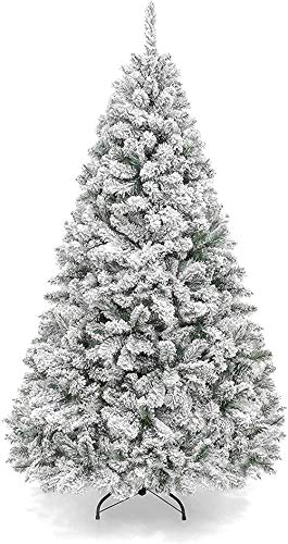 Christmas Tree Mini Christmas Tree Snow Flocked Artificial Premium Hinged Metal Stand, Collapsible Christbaum with Snow The Holidays Christmas utenciles (Color : A, Size : 90cm/3ft)