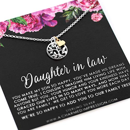 Daughter in Law Gift • Welcome to our Family Tree • Sterling Silver • Personalized Jewelry