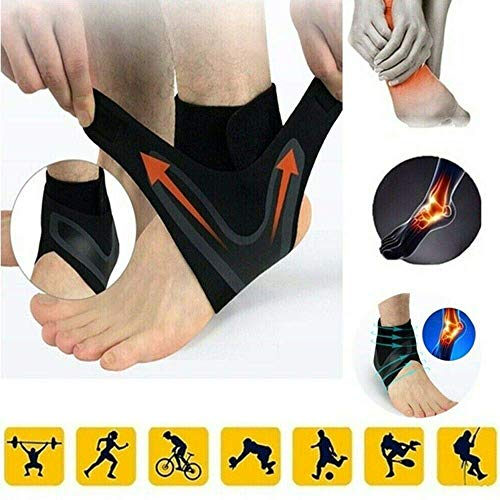 1 Pairs The Adjustable Elastic Ankle Brace - Ankle Support Foot Protect Orthotics Breathable
