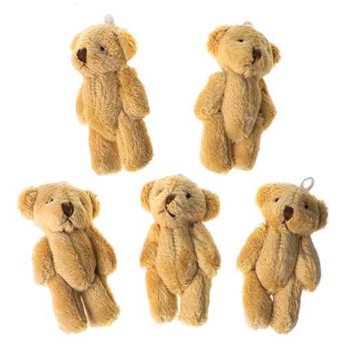 catyrre Yunerd 5 Stück Kawaii kleine Bären, Plüsch-Plüsch-Spielzeug, Perlensamt, Puppen, Geschenke, Mini-Teddybär, Strafe BSDM.