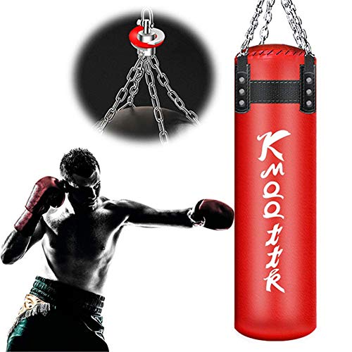 XHLLX Adult Filled Boxing Bag, Adult Foot Strike Bag Unpunned Heavy Box Bag Suspension By Chain Sports Leisure For Adults