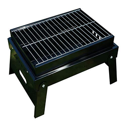 Kunyun, griglia per barbecue per esterni, a carbonella, ispessimento e pieghevole, portatile, per uso domestico, per uso esterno, colore: nero, dimensioni: 38,5 x 29