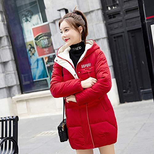 WFSDKN dames Parka 2019 nieuw katoen met capuchon onderaan gewatteerde lange donsjas vrouwen winterjas vrouwen nemen rood zwart onder katoen mantel