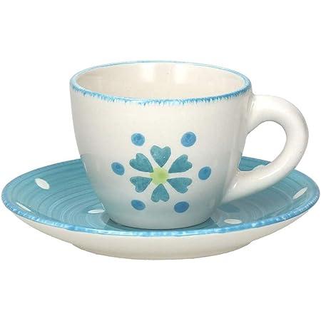 Tognana Juego de 6 tazas de caf/é con plato Gypsy Sombrero